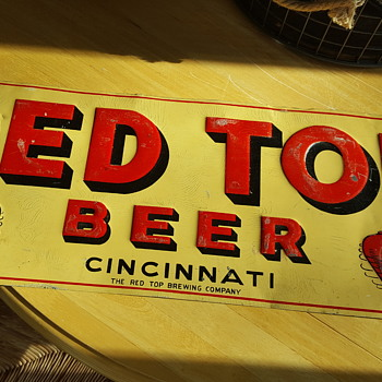 Red Top Beer Sign - Breweriana