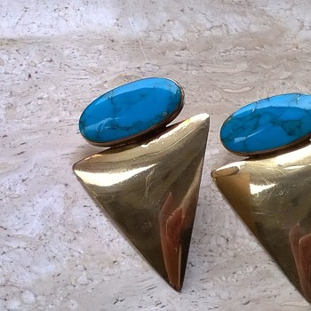 Gold Over Sterling Silver/Lapis Lazuli Earrings - Fine Jewelry