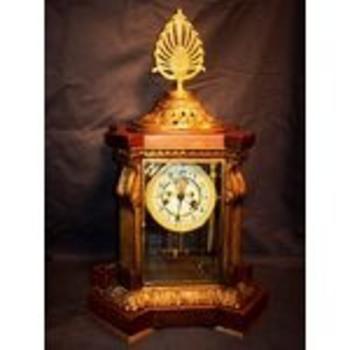 rare crystal regulator waterbury clock