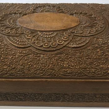 Sheesham wood cigarette case circa 1946 - Tobacciana