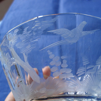 A Moser clear crystal bowl - Art Glass