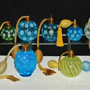 Fenton Art Glass made for DeVilbiss Atomizers - Bottles