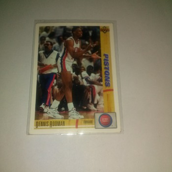 91-92  upper deck Piston Dennis Rodman # 185