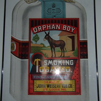Orphan Boy tobacco lithograph poster. - Advertising
