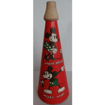 1930's Mickey Mouse Megaphone/Horn Toy - Animals