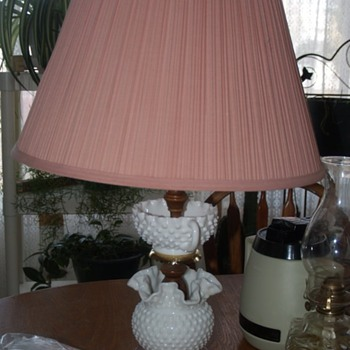 Fenton hobnail Lamp:  Looking for information on it.