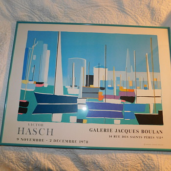 Vintage Arts Litho Paris Gallerie Jacques Boulan 14 Rue for Victor Hasch 1978 - Fine Art