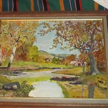 nice painting on board - Fine Art
