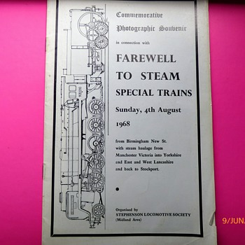 Farewell to steam , 4th August 1968. UK trains. - Advertising