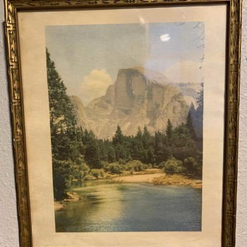 Hand-colored Photo of Half-dome - Photographs