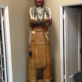 Vintage Carved Cigar Store Indian * Native American