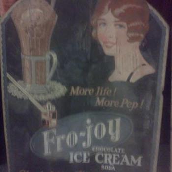 Fro-joy Ice Cream Advertisements - Signs