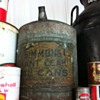 Oil cans from way back when.