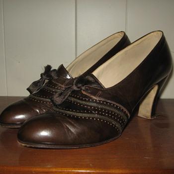 Vintage Tie up oxford heels ladies shoes