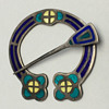 Alexander Ritchie of Iona - A Rare Enameled Penannular Brooch