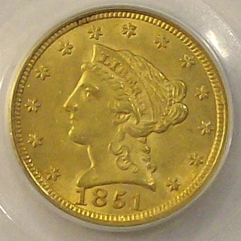 1851 & 1901 U.S. Gold Quarter Eagles - US Coins