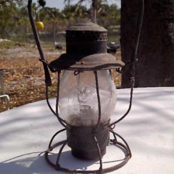 B & O Rail Road Oil Lamp