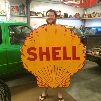 1920's Shell sign - Petroliana