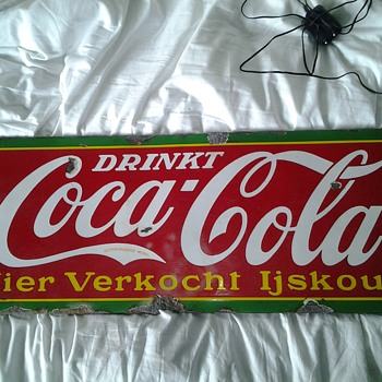 My 1939 belgian porcelain coke sign - Coca-Cola