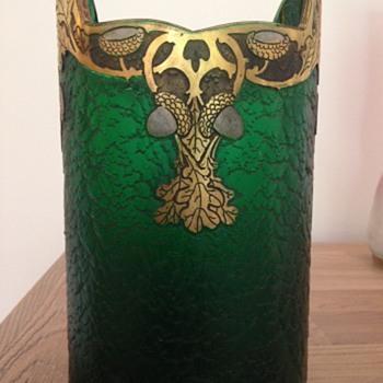 """Legras vase, 1900 """"Vert Impérial"""" - Art Nouveau"""