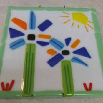 FUSED ART GLASS PICTURE TILE - Art Glass