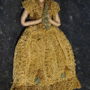 ANTIQUE VINTAGE DOLL - ANY GUESS ON ORIGINS? - LOOFAH? - Dolls