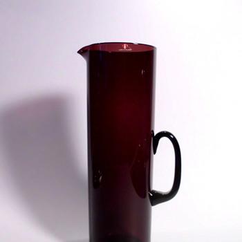 Jug, probably by Timo Sarpaneva or Kaj Franck (Iittala) - Art Glass