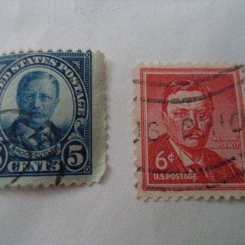 Theodore Roosevelt USA Stamps