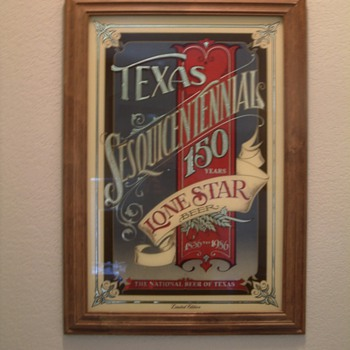 lone star beer mirror (limited addition)
