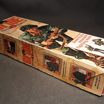 Canadian GI Joe Action Soldier Box With Canadian Army Manual and Paperwork - Toys