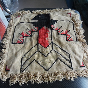 Very Old Native American Zuni Thunder Bird Textile - Native American