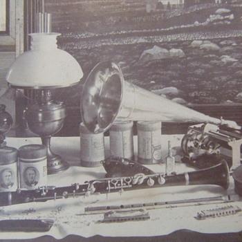Martin Morrison stereoview of Edison Phonograph - Music Memorabilia