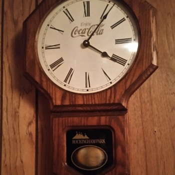 Coca-Cola clock from rockingham park  - Coca-Cola