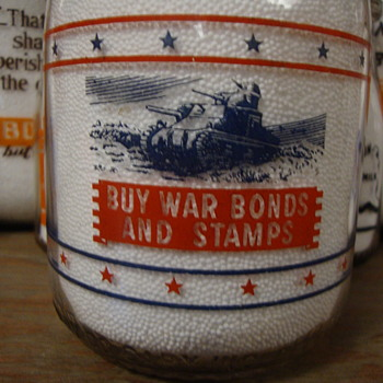 DIXIE DAIRY...GARY INDIANA...QUART WAR SLOGAN TANK - Bottles