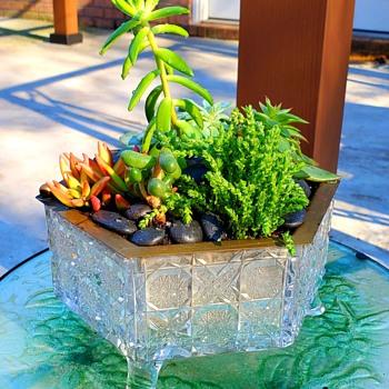 Cut Glass Planter? - Glassware