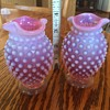 Fenton Hobnob Glass Vases just bought at Estate sale