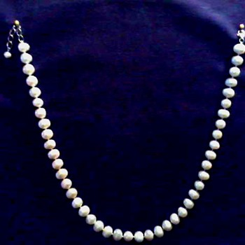 "18"" Large Baroque Pearl Necklace /Unknown Type .925 Sterling Clasp / Circa 20th Century - Fine Jewelry"