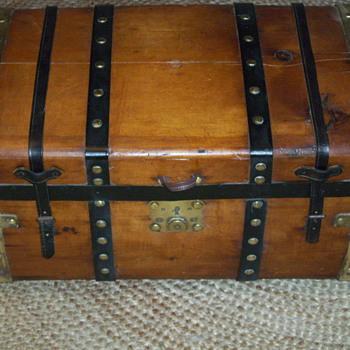 Medium Size Trunk Brass Bands - Furniture