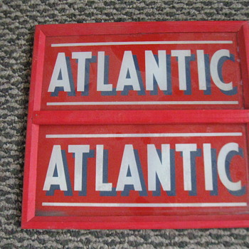 ATLANTIC GAS PUMP ADD GLASS, ORIGINAL - Petroliana