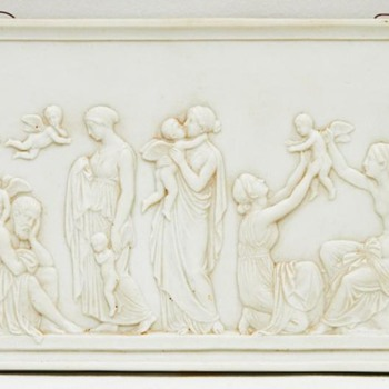 'Ages of Love' Relief, After Thorvaldsen (Bing & Grondahl, Denmark), 2nd Half of the 19th Century - Pottery