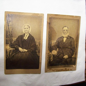 CIVIL WAR ERA PHOTOS- HUSBAND AND WIFE CARDS - Photographs