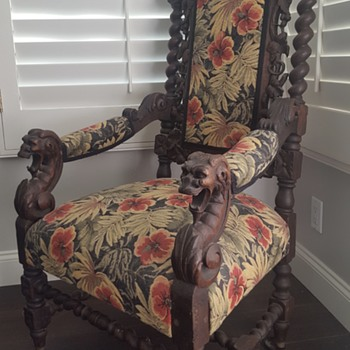 My Dad's Old Throne Chairs - Furniture