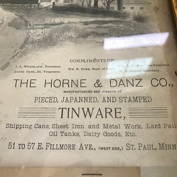 Calendar Advertising - 1891 - Paper