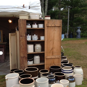 A nice display of crocks - China and Dinnerware