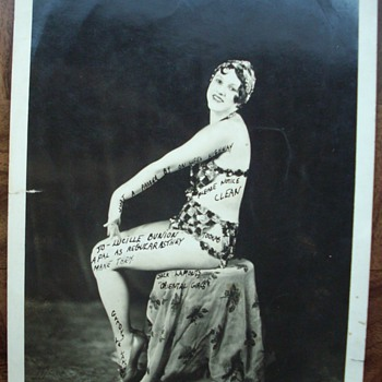 1920's Show Girl signed photo. - Photographs