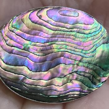 Miraculous Abalone or Paua Brooch - Fine Jewelry