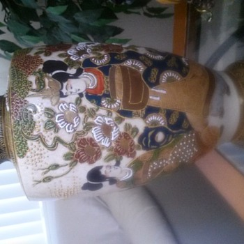 "12"" Japanese Pottery Urn - Asian"