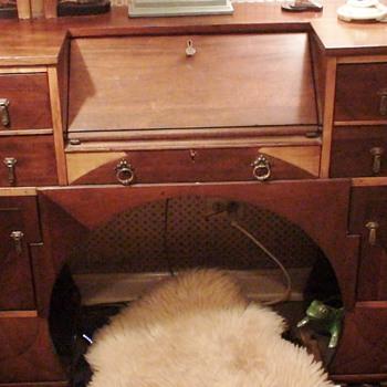 """Art Deco Desk """"The Daisy Line"""" Faribault, Minn."""