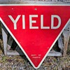 "1960s New York City ""YIELD"" sign"