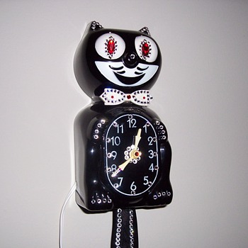 1960's Jeweled Kit-Cat Clock - Clocks